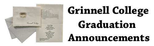 Grinnell College Graduation Announcements