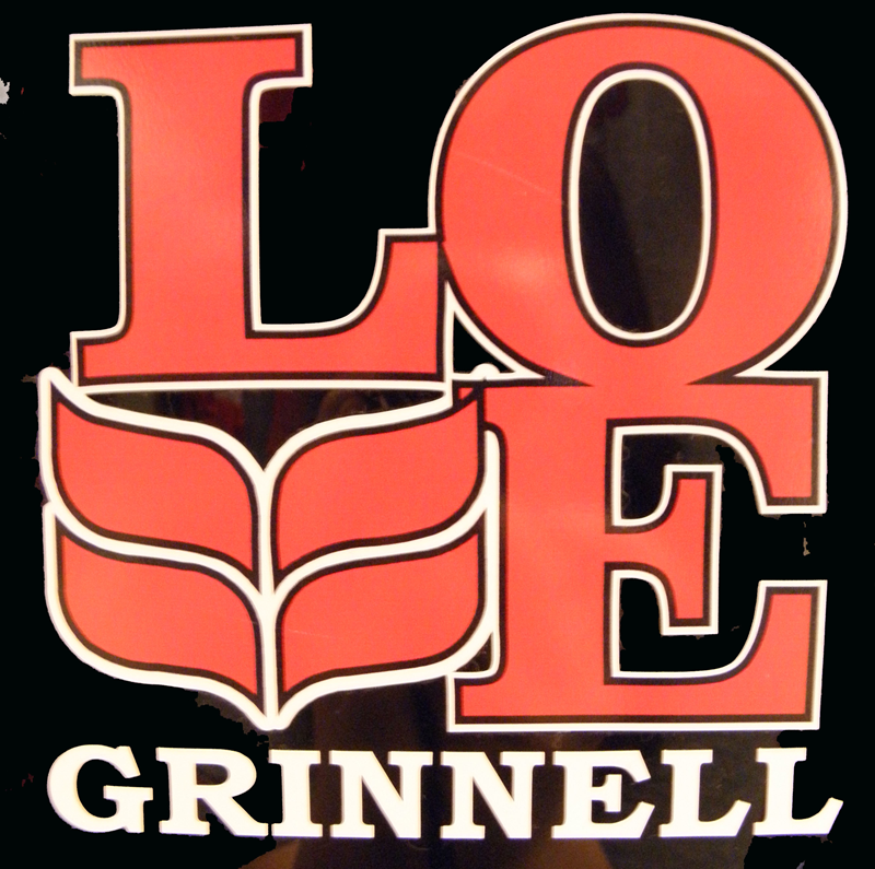 The Grinnell Love Decal.