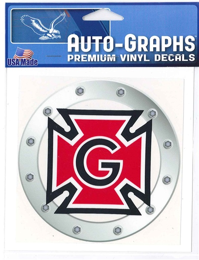 Honor G in Rivoted Steel Ring Decal