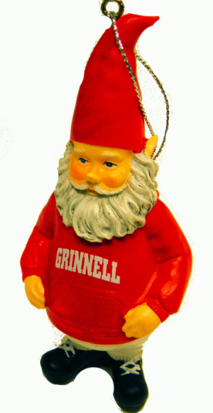 Grinnell Gnome Ornament