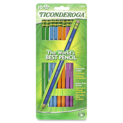 Pencil Ticonderoga Woodcase #2 assorted colors 10pk