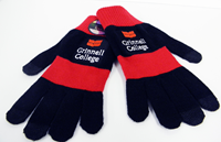 Texting Gloves in Red & Black