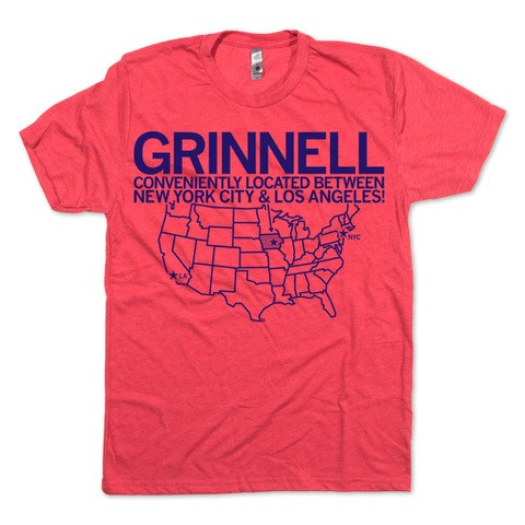 Grinnell: Conveniently Located T-shirt (SKU 1106784912)