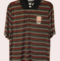Cutter & Buck Striped Polo with Honor G