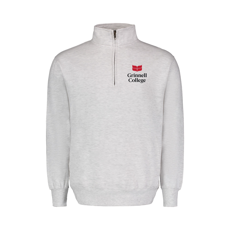 1/4 Zip Down Sweatshirt with College Logo (SKU 111382282)